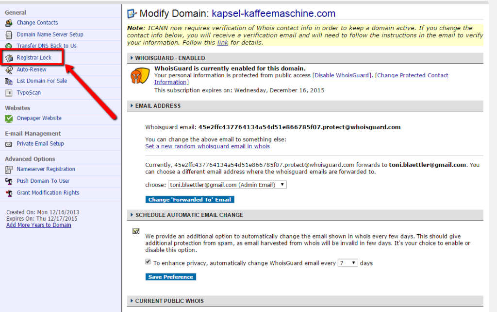 Domain-Cost-Club_Domaintransfer_von_Namecheap, hier entsperrst Du Deine Domain