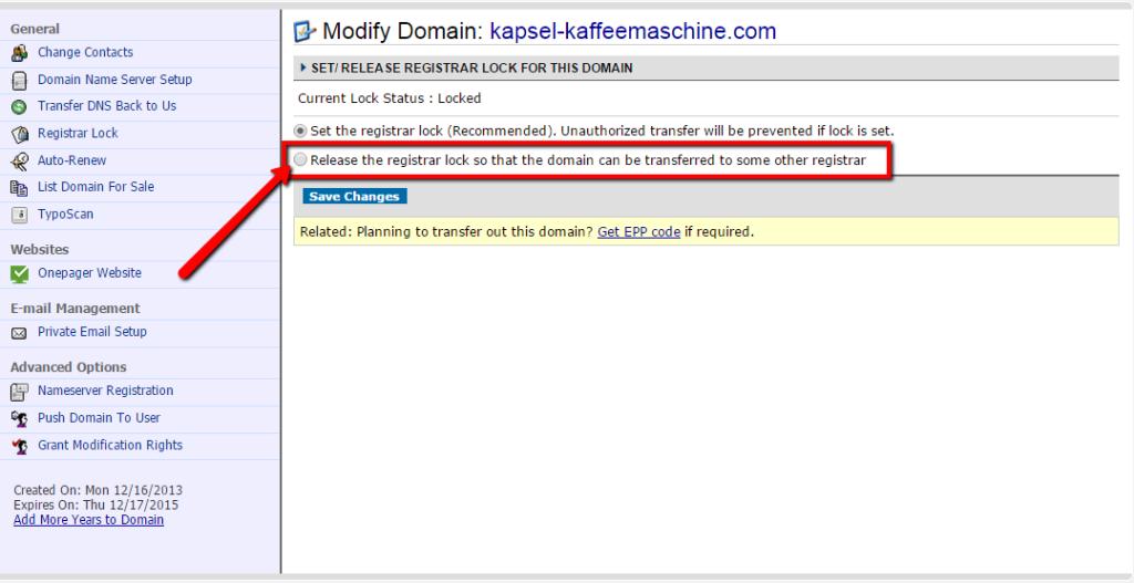 DomainCostClub_Domaintransfer_von_Namecheap_Registrar_Lock_aufheben am Beispiel von Namecheap